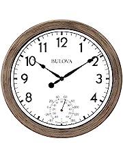 Bulova Patio Time Indoor/Outdoor Wall Clock, 10.25, Rattan Finish