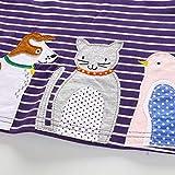 Cartoon Animal Stripe Dress for Toddler Kids Baby