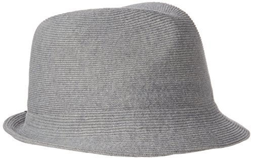 Hats Kangol Fedora (Kangol Men's Cotton Rib Arnold, Gray, XL)