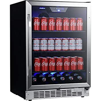 EdgeStar CBR1502SG 24 Inch Wide 142 Can Built-in Beverage Cooler with Tinted Door
