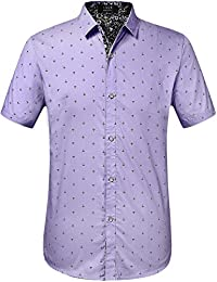 Amazon.com: Purple - Casual Button-Down Shirts / Shirts: Clothing ...
