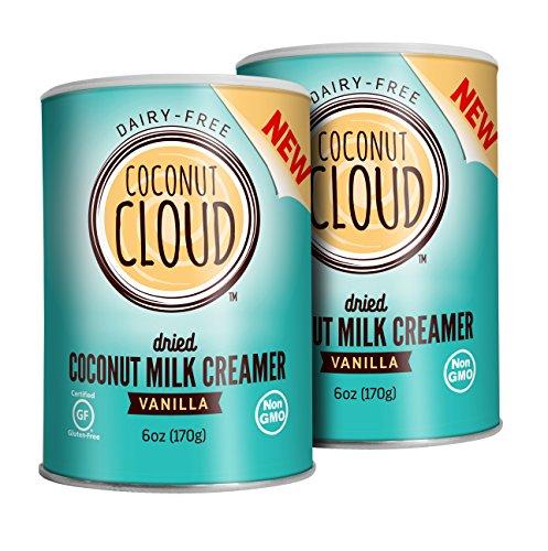 Coconut Cloud Non-Dairy, Paleo-Friendly, Gluten Free Coconut Milk Coffee Creamer, powdered coconut milk, Vanilla 2-Pack, 2 6oz canisters