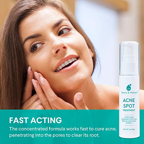 Acne Spot Treatment for Acne Prone Skin - Treats Cystic Acne, Advanced Acne Removal, Fast-Acting, Pimple Repair with Tea… 4