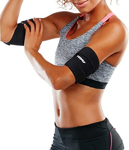 Neoprene Arm Trimmers Sauna Sweat Band for Women Men Weight Loss Compression Body Wraps Sport Workout Exercise(a pair) 4