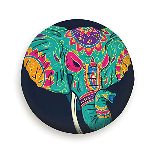 smartgood Day Dead Colorful Sugar Elephant Head Animals Wildlife Signs Symbols Spare Wheel Tire Cover Waterproof Dust-Proof Universal for Jeep,Trailer, RV, SUV and Many Vehicle 14