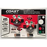Coast Focusing Headlamps 405 Lumen LED 2 Pack
