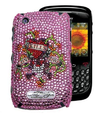 Ed Hardy Crystal Faceplate for BlackBerry Curve 8520 - Love Kills Slowly - (Ed Hardy Curve)