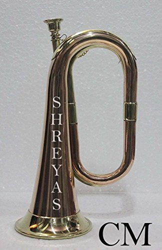 ANTIQUE HOME OUTDOOR CLASSY DÉCOR GIFT ITEM SOLID COPPER & BRASS MADE OLD SCHOOL ORCHESTRA BAND BUGLE shry023 by SHREYAS