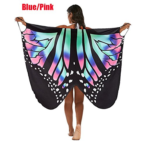 cs_sport Beach Cover up Sexy Butterfly Bikini Swimsuit Cover Ups Beach Dress Women Beach Tunic Sarong Robe Plage (M, A)