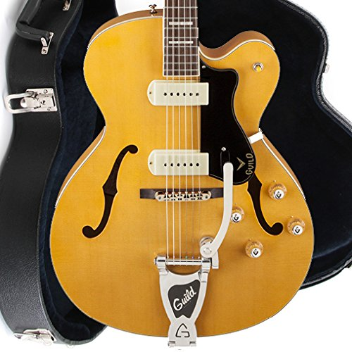 Guild X-175 Manhattan Hollow Body Electric Guitar with Case (Blonde)