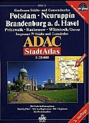 ADAC StadtAtlas Potsdam, Neuruppin, Brandenburg an der Havel 1:20.000 Pritzwalk, Rathenow, Witstock (Dosse) Broschiert – 1. April 2007 ADAC Kartografie 3826419464 Brandenburg (Land) Havel - Havelland