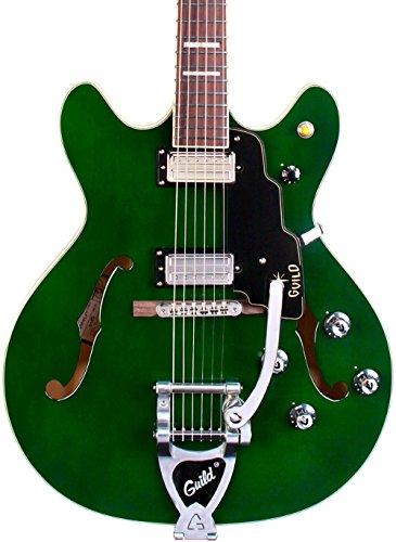 Guild Starfire V Maple Semi Hollow Electric Guitar Emerald Green