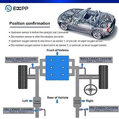 ECCPP 2pcs Oxygen Sensor Upstream Front Downstream Rear O2 Sensor Fit 234-4092 for 1997-2001 Honda Prelude 2.2L: Automotive