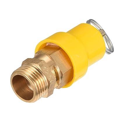sourcing map Compresor de aire válvula de alivio de presión 3/8 pt rosca 1.22