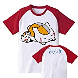 AnimeTown Natsume's Book of Friends Costume Anime Short Sleeves Tee T-shirt (L, Red and White)