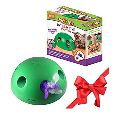 Toys for cats Allstar Innovations Pop N' Play Interactive Motion Cat Toy,... [tag]