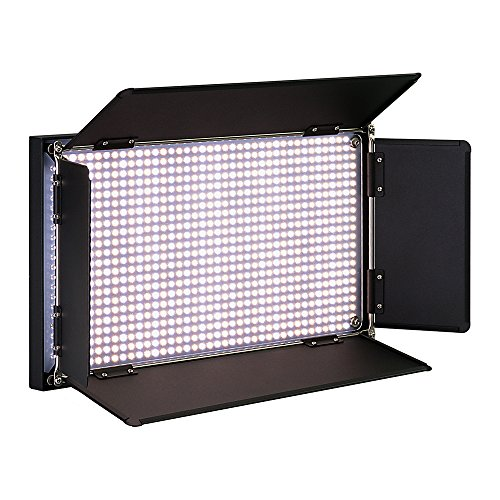 Fotodiox Pro LED-876AS, Professional 876 LED Dimmable, Dual Color Photo/Video Light Kit with included Barndoors, Bi-Color Control, Removable Diffusion Panel, Batteries and Charger by Fotodiox