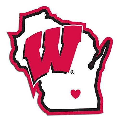wisconsin badgers auto decal - 4