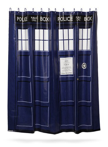 Dr Who Tardis Shower Curtain