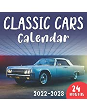 Classic Cars Calendar 2022-2023: 24 Month Calendar With High-Quality Images Each Month, Great Gift Ideas for Classic Car Lovers