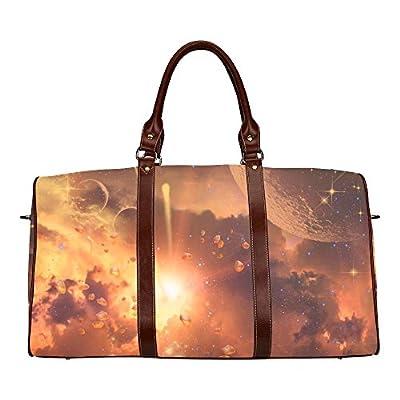 70%OFF Explosion In The Galaxy Custom Waterproof Travel Tote Bag Duffel Bag Crossbody Luggage handbag