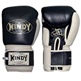 Windy Muay Thai Training Gloves, Black, 16-Ounce