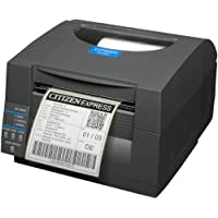 Citizen America CL-S521-EC-LK-GRY CL-S521 Direct Thermal Barcode PRINTER, 4.1 Print width, 203 Dpi Resolution, 6 IPS Print Speed, Ethernet Interface, Auto Cutter, Lock, Dark Gray