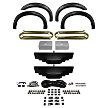 Supreme Suspensions - 3.5inch Ford Front and 2inch Rear F250 F350 Super Duty Leveling Lift Machined Billet Kit 4WD 4X4 + 4pc Front and Rear Bolt on Rivet Off-Road Truck Fender Flares (Textured)