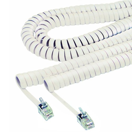 Softalk 42265 Phone Coil Cord 25-Feet Ivory Landline Telephone Accessory
