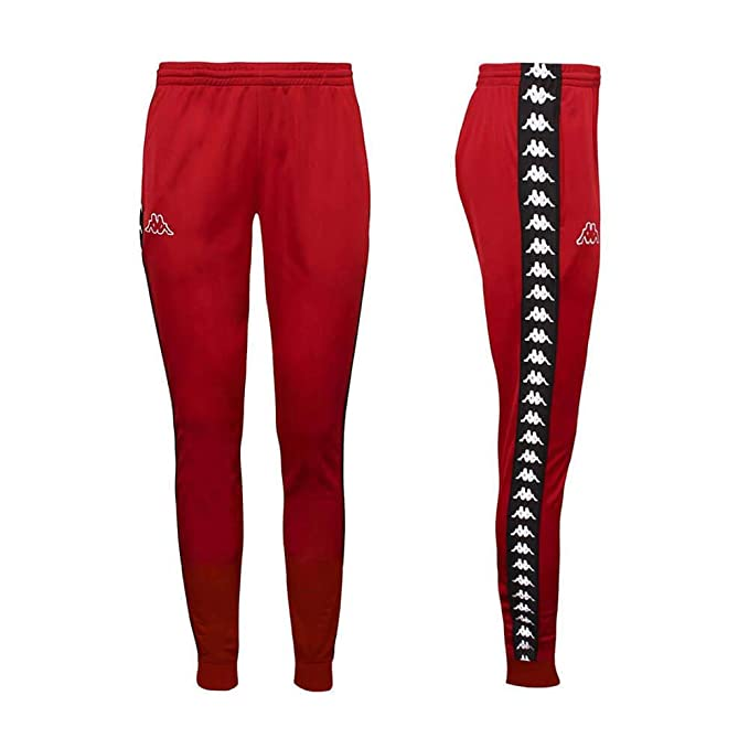 1948765af2 Kappa Women's 222 Banda Wrastoria Slim Track Pants, Red, Large ...