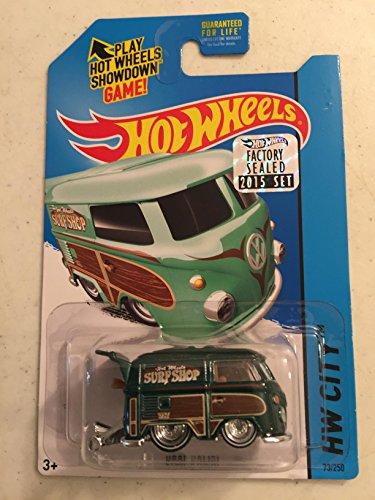 Hot Wheels 2015 Super Treasure Hunt Kool Kombi (VHTF) (Rare) Hunter Green With Detailed Graphics