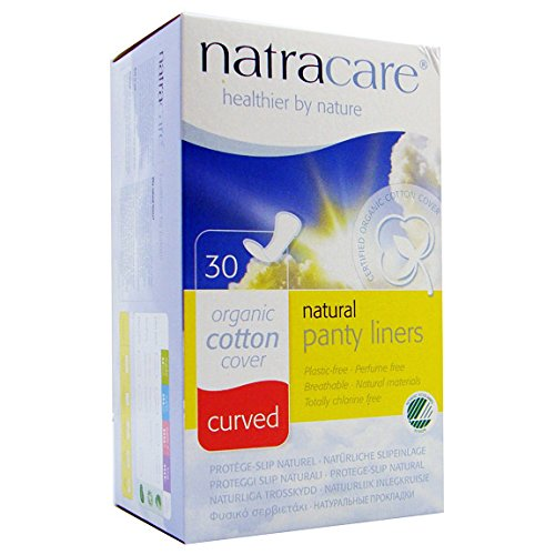 (Natracare Organic & Natural Curved Panty Liners 30 ea (Pack of 12) )