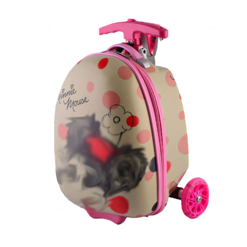 Suitable for Children Gyqjs 20L Large Capacity Trolley Backpack Boy Girl Primary School Travel Rucksack Scooter Daypack Boarding Luggage Decompression Waterproof ,B