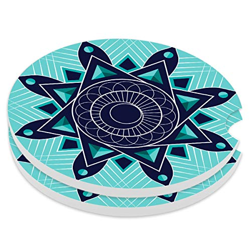 Absorbent Stoneware Car Coaster,Ceramic Auto Cupholder Coasters,Set of 2 Stone Coasters for Drinks Absorbent