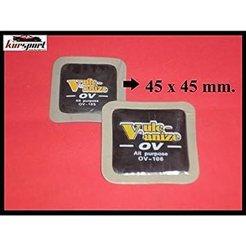 Parches cuadrados de 45mm (30 unidades), reparacion de neumaticos. Repara pinchazos en ruedas de coche, moto, camion. Arreglar pinchazos en neumaticos ...