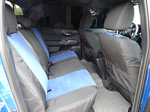 Durafit Seat Covers 2015-2018 Toyota Tacoma Double Cab Front/Back Exact Seat Covers...