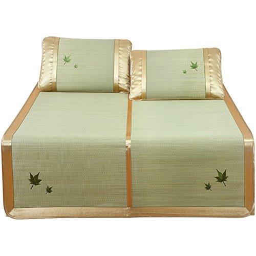 Cool matelas Tapis mat de la natte Ensemble matelassé mat naturel Tapis simple / double plié (sans taies d'oreiller) Tapis de bambou frais ( taille : 1.35M(4.5FT)BED )