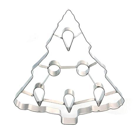 Xiton Galleta del árbol de Navidad 3D de Corte de Acero Inoxidable moldes para Galletas Dulces