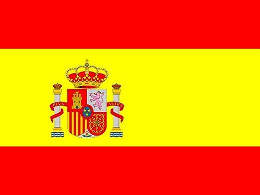 Bandera de España con escudo. 150 X 90 cm. Interior y exterior ...