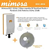 Mimosa B5C Backhaul Radio GPS 4x4:4 MIMO PoE + Parabolic Dish Antenna 5GHz 25dBi
