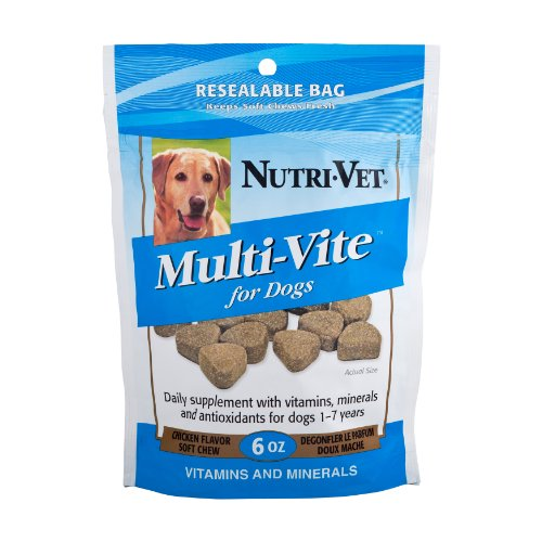 Nutri-Vet Multi-Vite Soft Chews for Dogs, 6-Ounce, My Pet Supplies