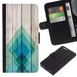 Planetar® Modelo colorido cuero carpeta tirón caso cubierta piel Holster Funda protección Para Apple (5.5 inches!!!) iPhone 6+ Plus ( Teal Pattern Square )