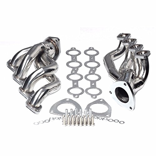 - Stainless Headers Fit For Chevy GMC Avalanche Silverado Sierra Tahoe 00-06 4.8L 5.3L V8