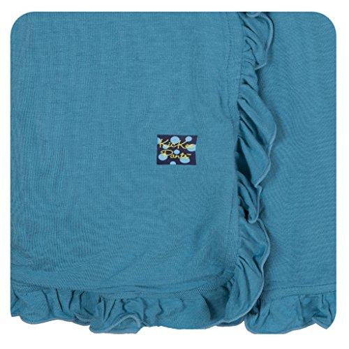 KicKee Pants Ruffle Stroller Blanket Blue Moon