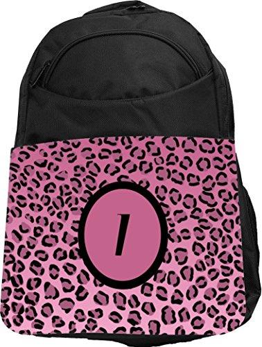 "Rikki Knight UKBK Letter ""I"" Light Pink Leopard Print Mon..."