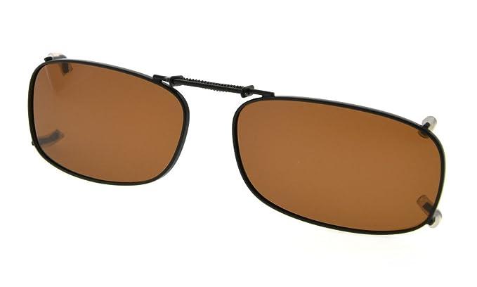 e917288d28 Eyekepper Metal Frame Rim Polarized Lens Clip On Sunglasses 2 quot x1 1  8 quot