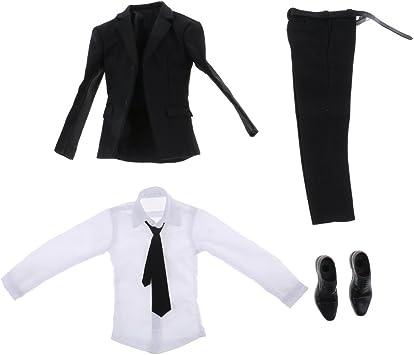 sharprepublic 1/6 Pantalón Negro Camisa Pantalón Cinturón ...