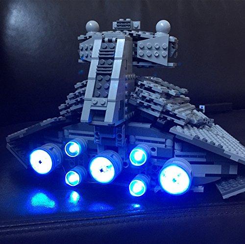 Superstar Destroyer (JULITE LED light up kit for lego 75055 Compatible with 05062 The Imperial Super Star Destroyer (Bricks Set not included))