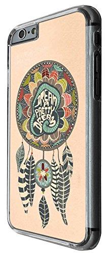 1329 - Cool Fun Trendy cute kwaii feathers dream catcher Design iphone 6 6S 4.7'' Coque Fashion Trend Case Coque Protection Cover plastique et métal - Clear