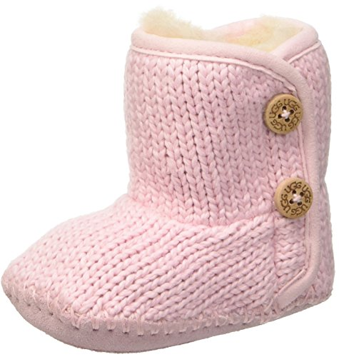 Sheepskin Baby Booties (I PURL Boot, Baby Pink, 3 M US Infant)